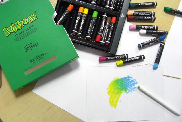 重彩油画棒技法——纸笔揉擦法