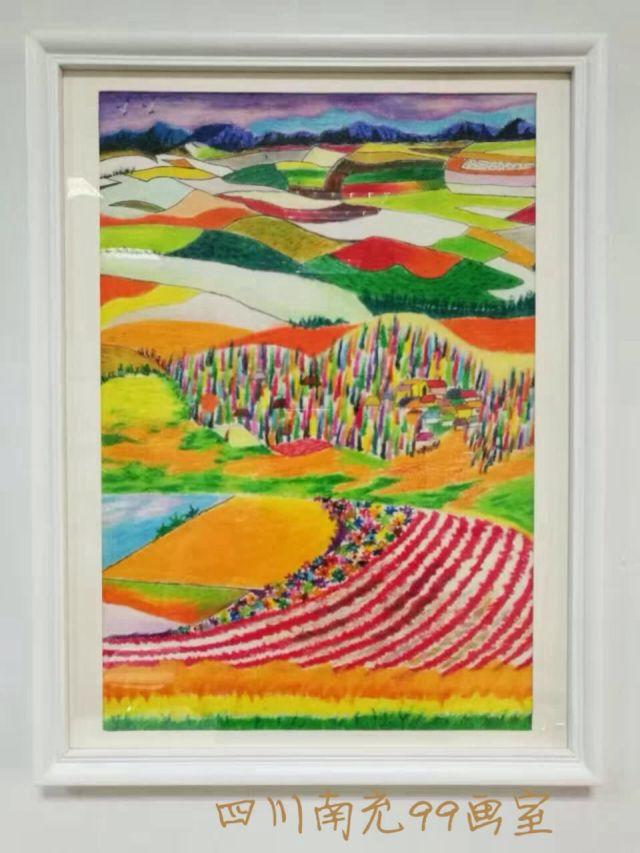 丹可林重彩油画棒山水画