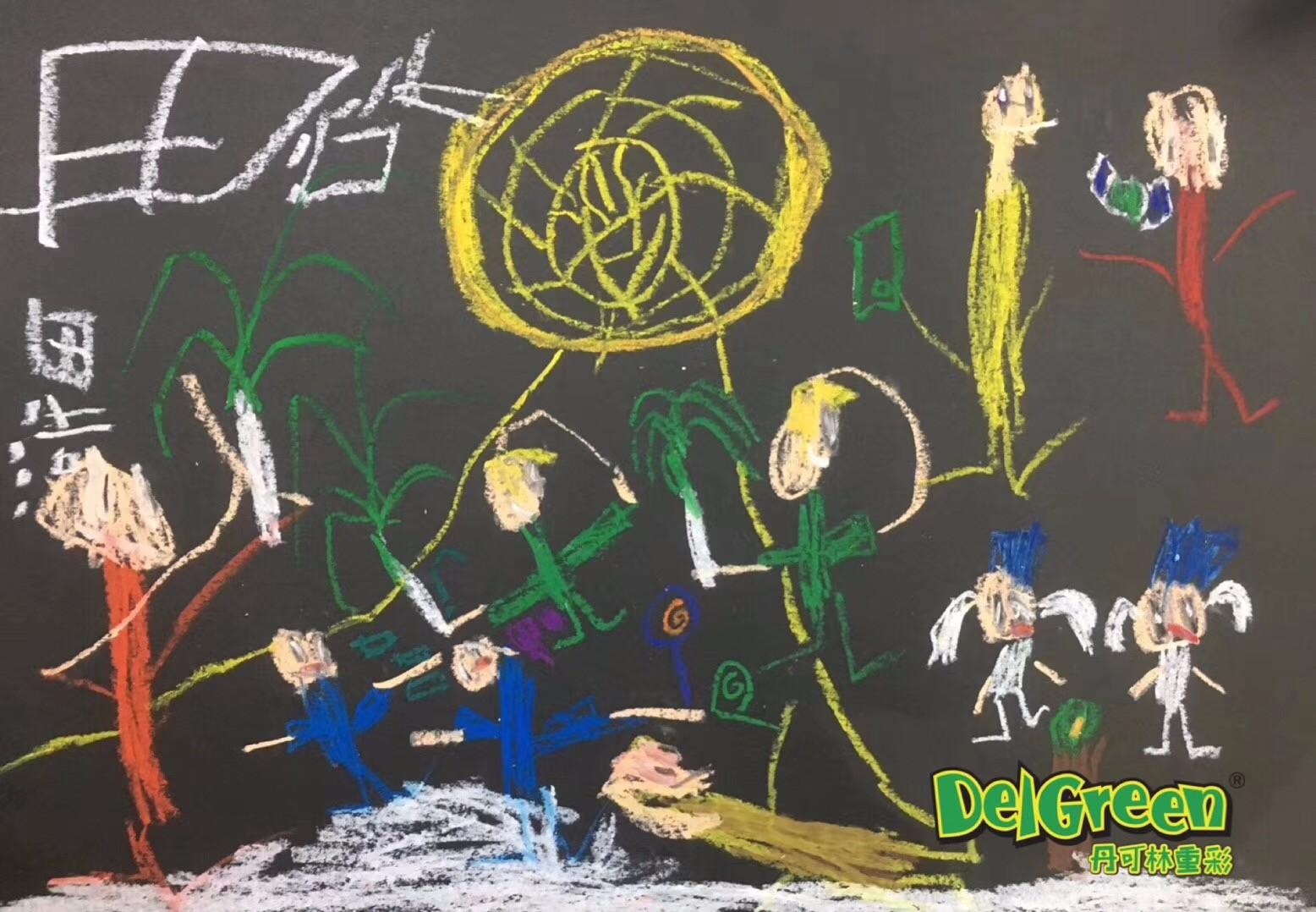 重彩油画棒作品分享——低龄儿童作品