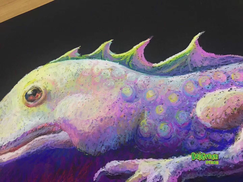 重彩油画棒作品分享——混色效果的表达